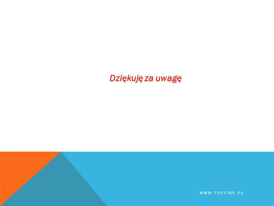 BHP Dziękuję za uwagę www.topfire.pl