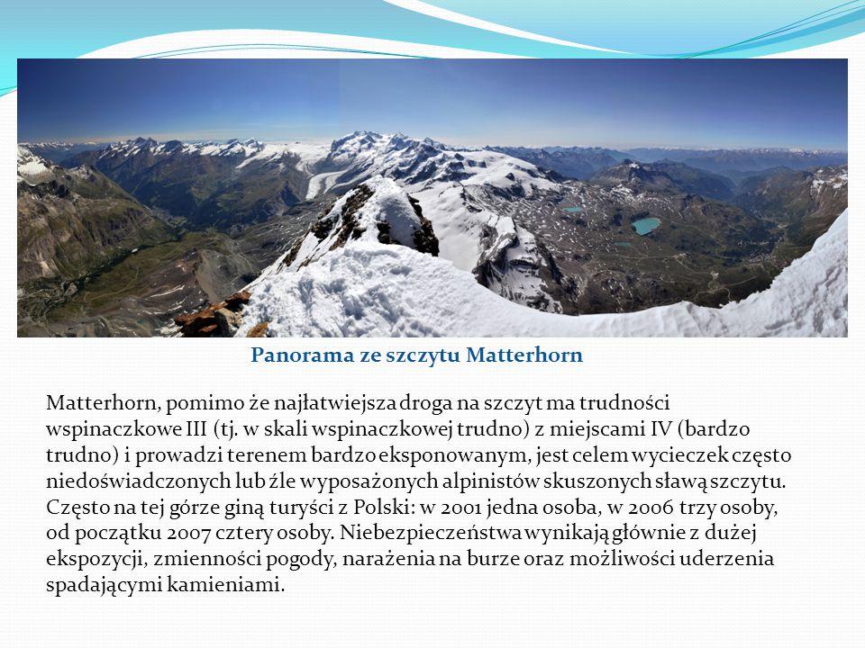 Panorama ze szczytu Matterhorn