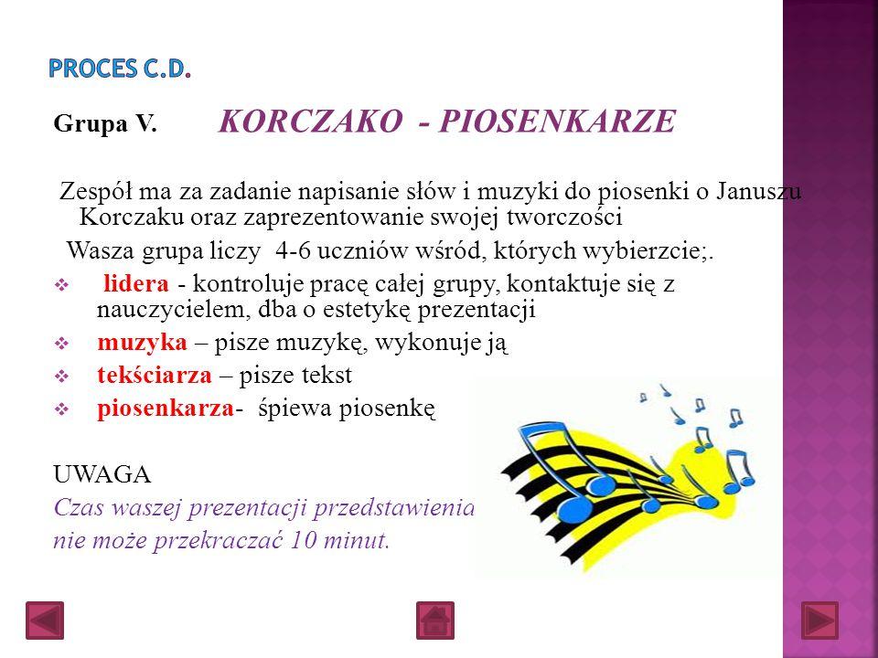 Grupa V. KORCZAKO - PIOSENKARZE