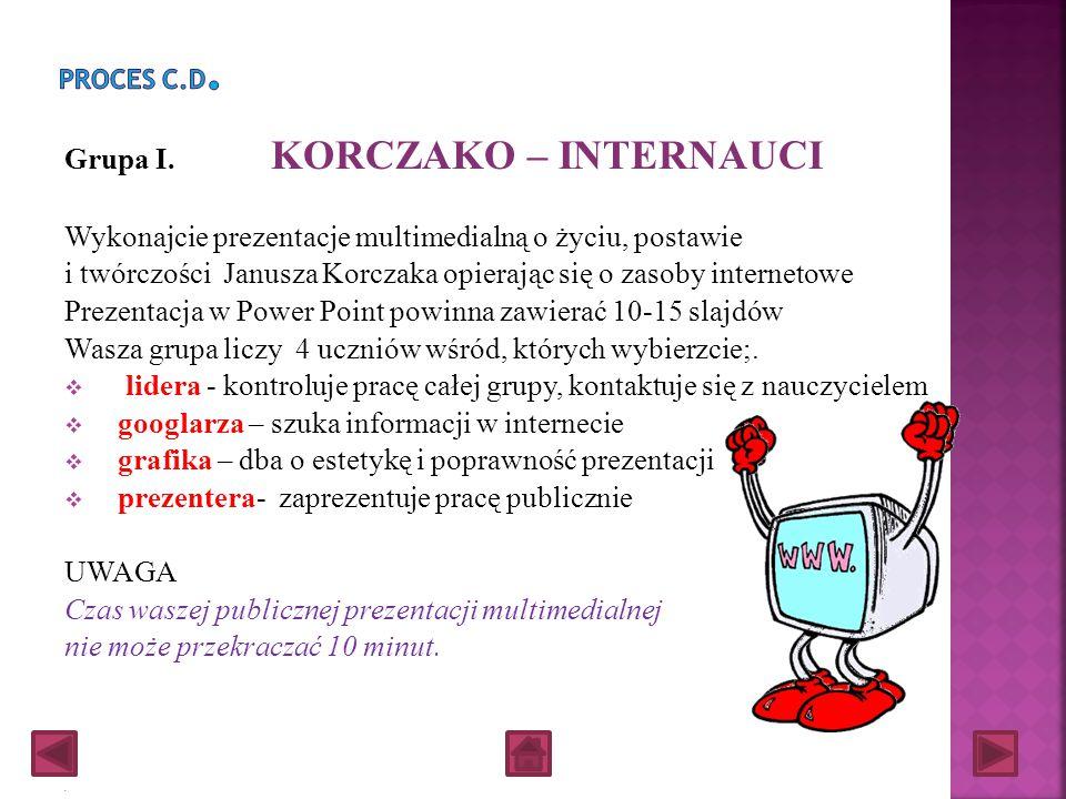 Grupa I. KORCZAKO – INTERNAUCI