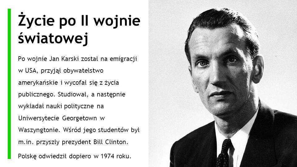 Życie po II wojnie światowej