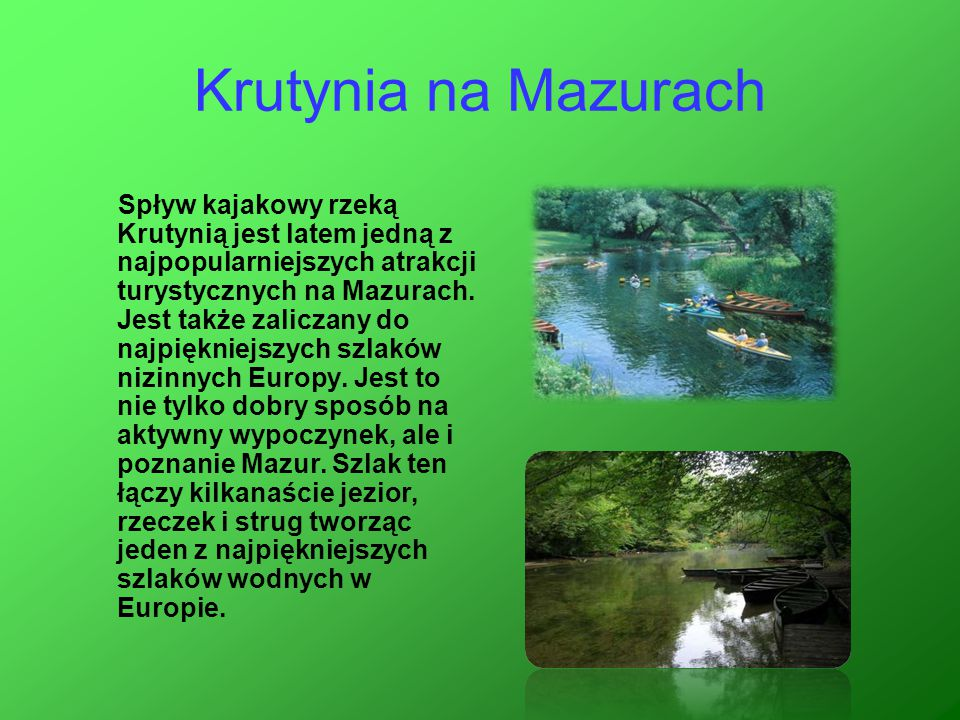Krutynia na Mazurach