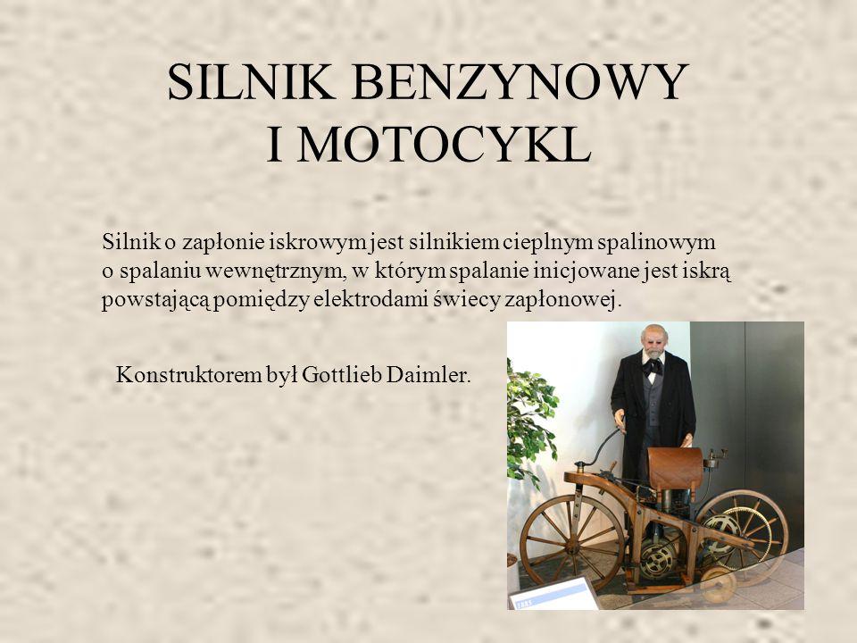 SILNIK BENZYNOWY I MOTOCYKL