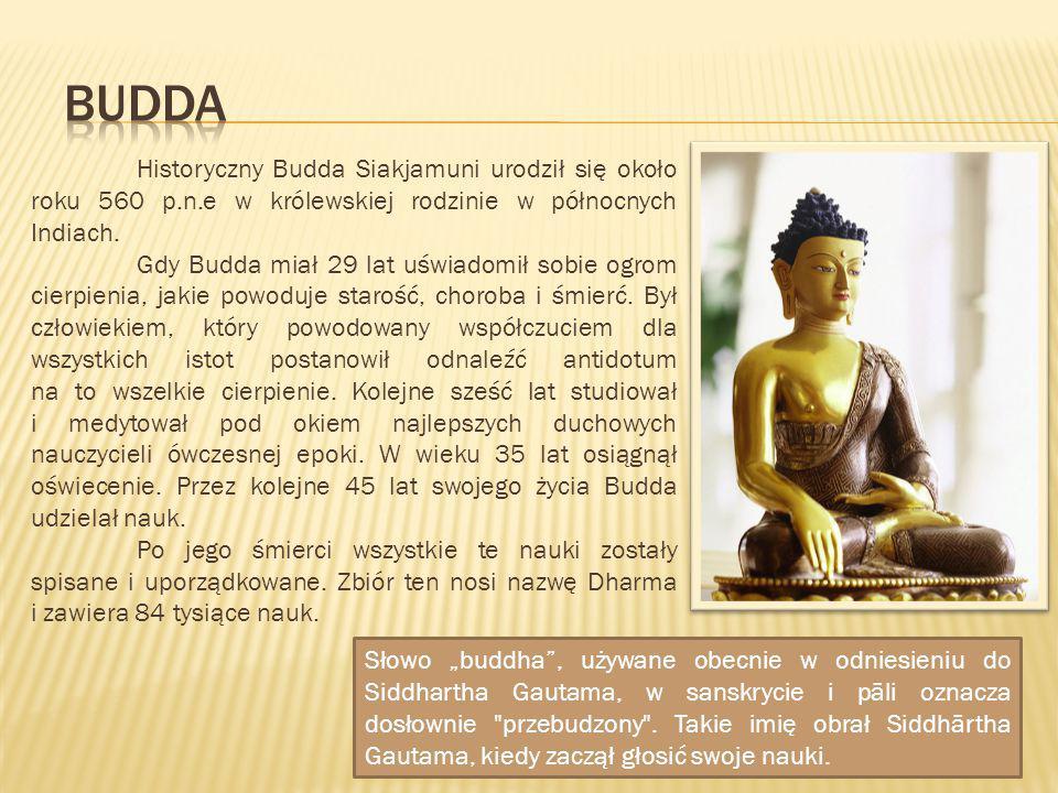Budda Historyczny Budda Siakjamuni urodził się około roku 560 p.n.e w królewskiej rodzinie w północnych Indiach.