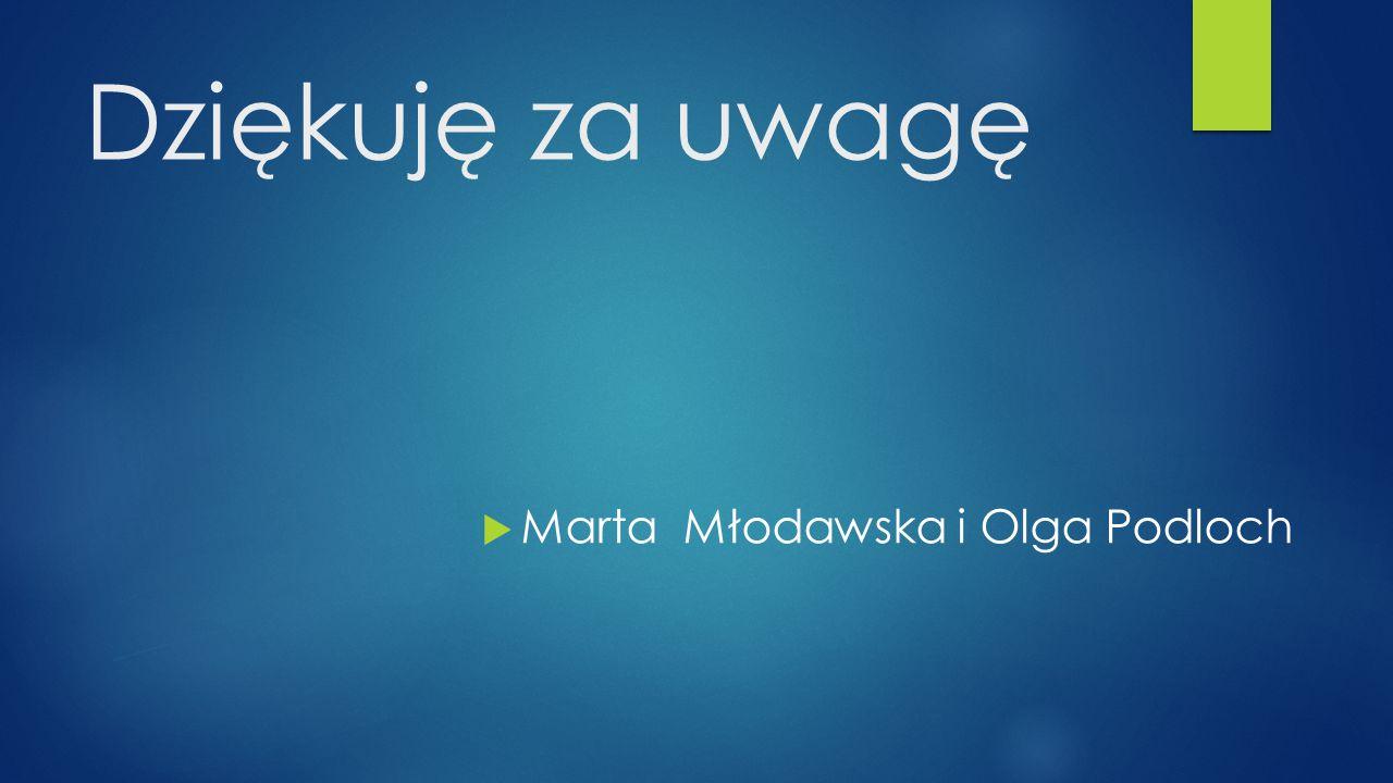 Dziękuję za uwagę Marta Młodawska i Olga Podloch