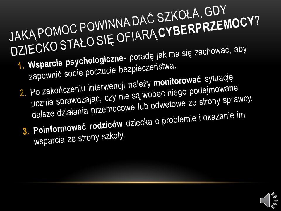 Jaką pomoc powinna dać szkoła, gdy dziecko stało się ofiarą cyberprzemocy