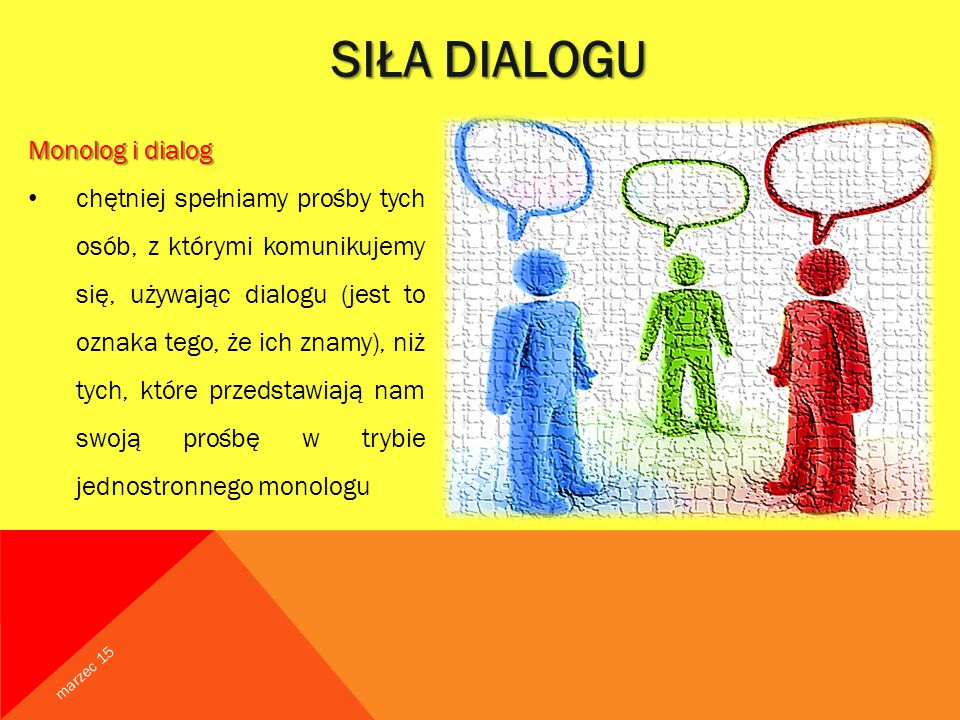SIŁA DIALOGU Monolog i dialog
