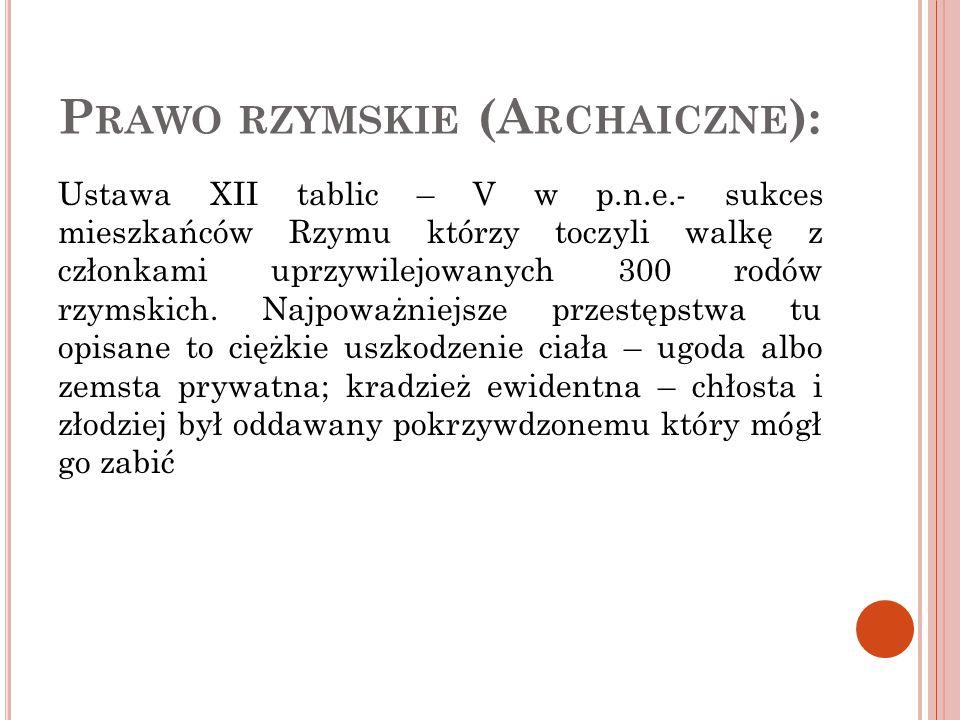 Prawo rzymskie (Archaiczne):