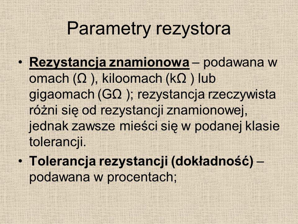 Parametry rezystora