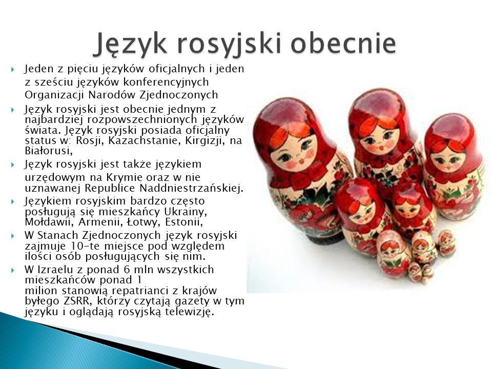 Język rosyjski obecnie