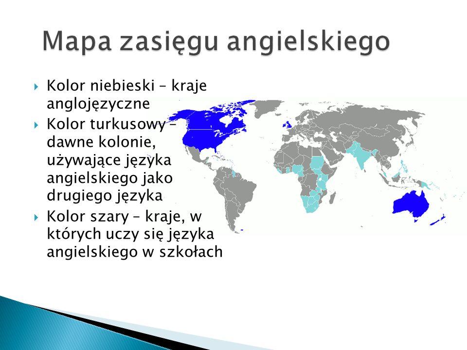 Mapa zasięgu angielskiego