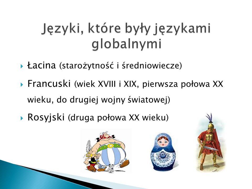 Języki, które były językami globalnymi