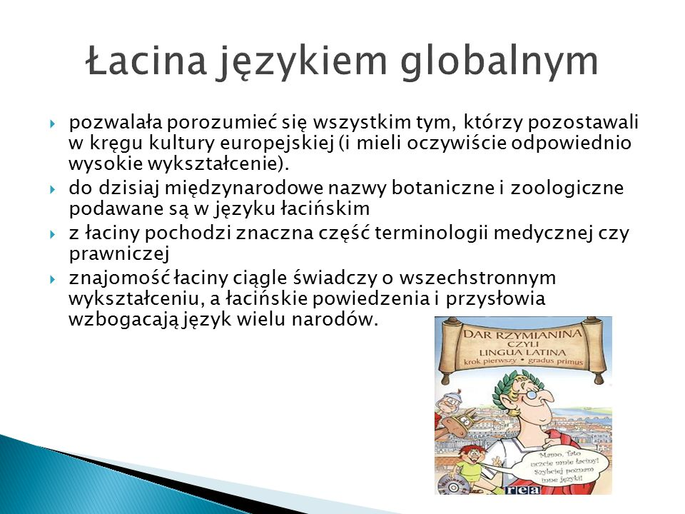 Łacina językiem globalnym