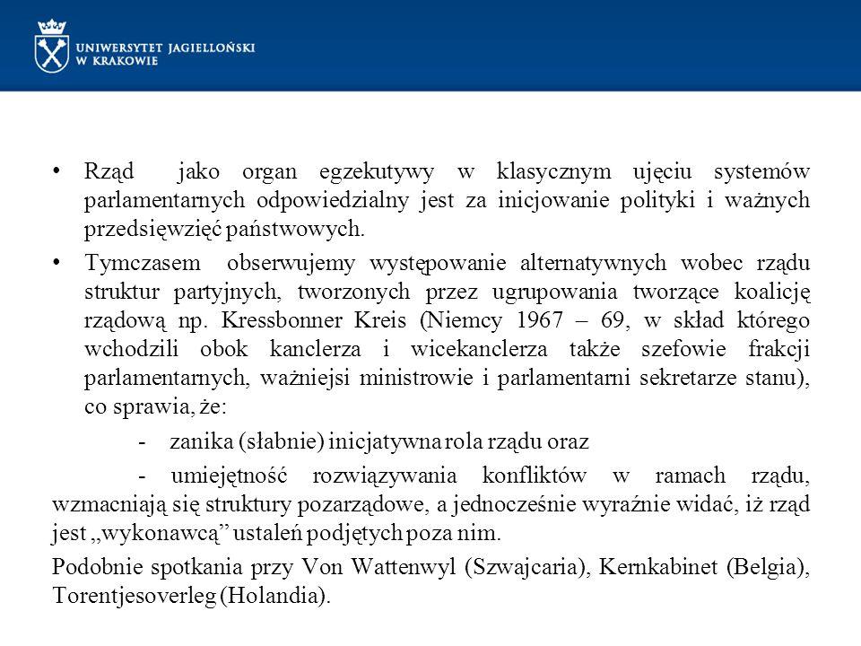 Rząd jako organ egzekutywy w klasycznym ujęciu systemów parlamentarnych odpowiedzialny jest za inicjowanie polityki i ważnych przedsięwzięć państwowych.