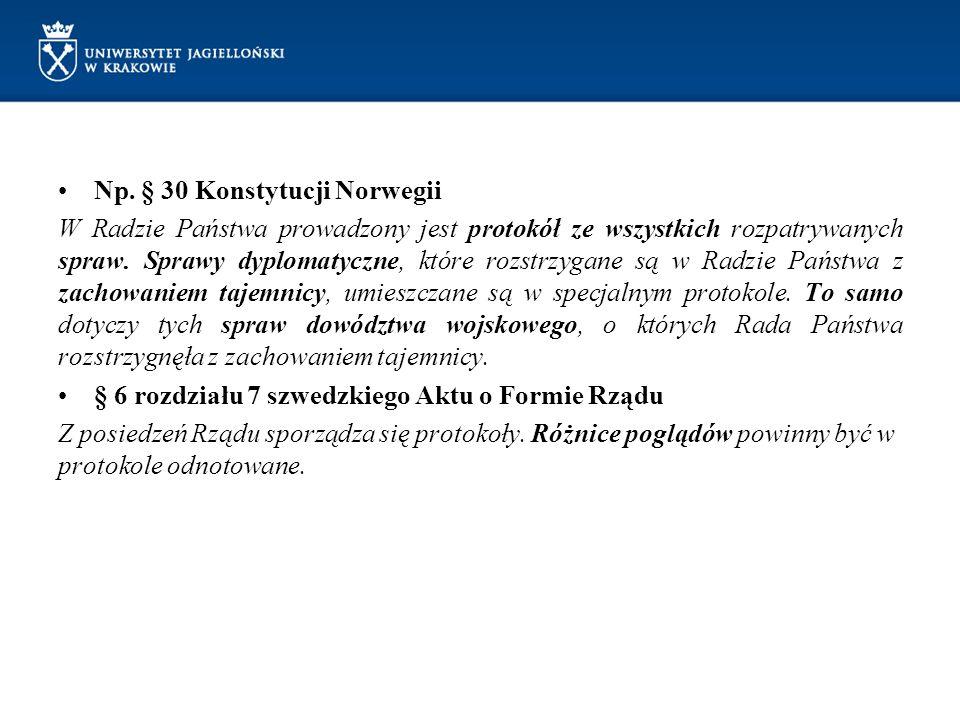 Np. § 30 Konstytucji Norwegii