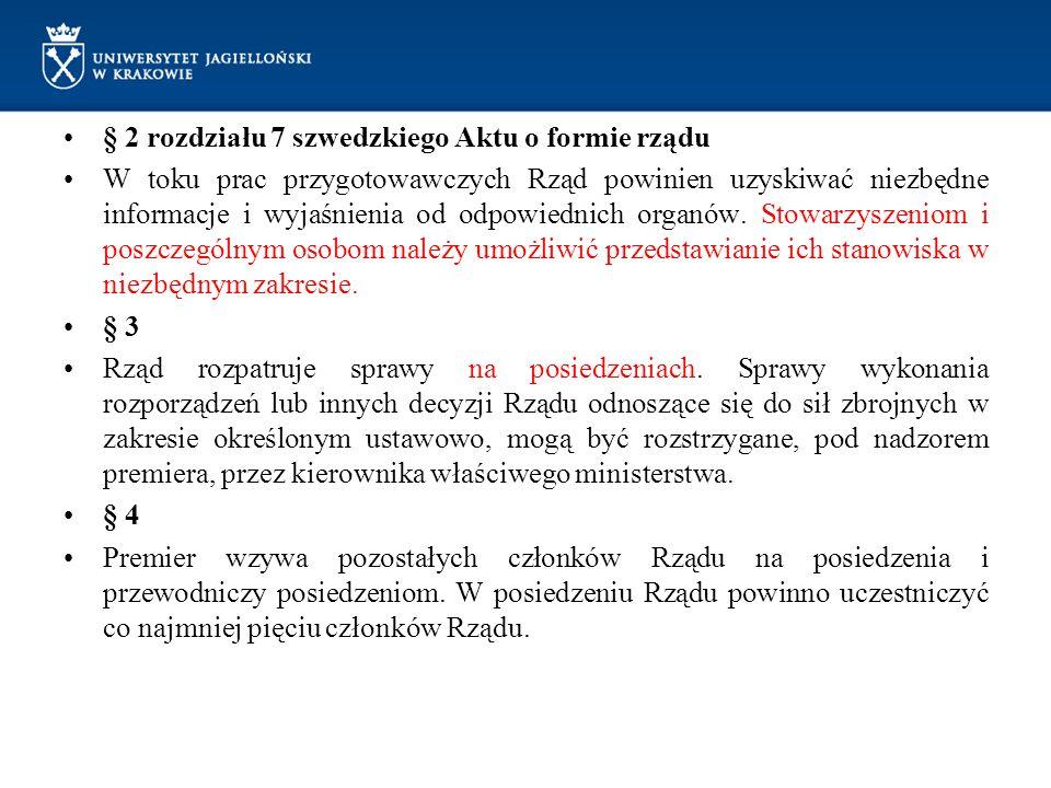 § 2 rozdziału 7 szwedzkiego Aktu o formie rządu