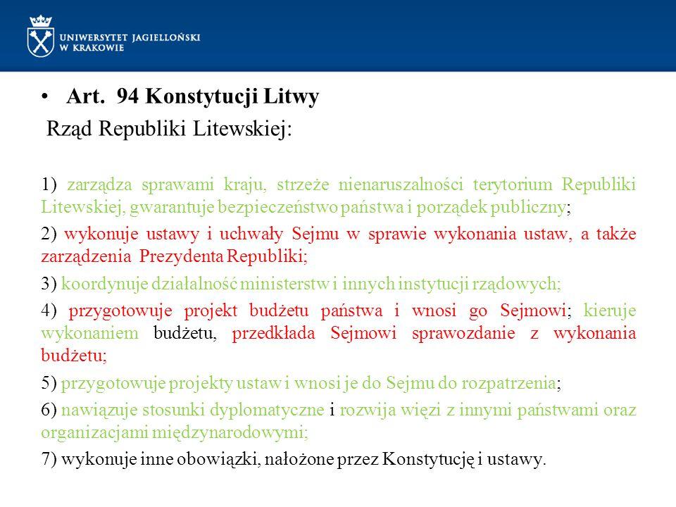 Rząd Republiki Litewskiej: