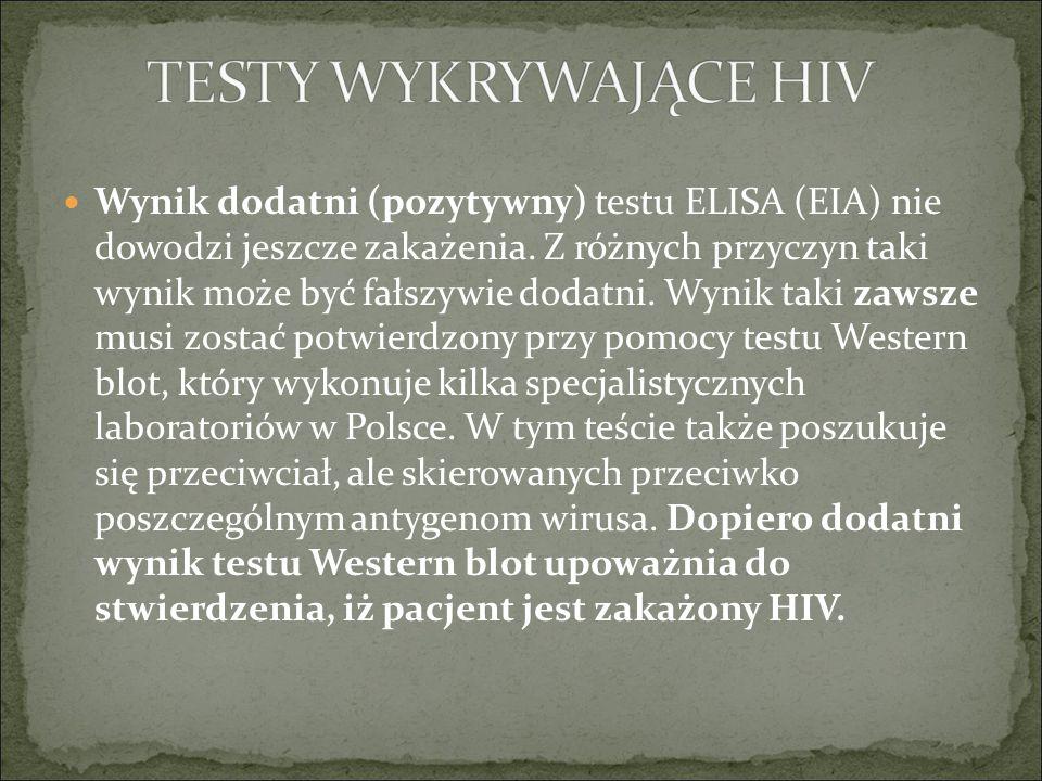 TESTY WYKRYWAJĄCE HIV