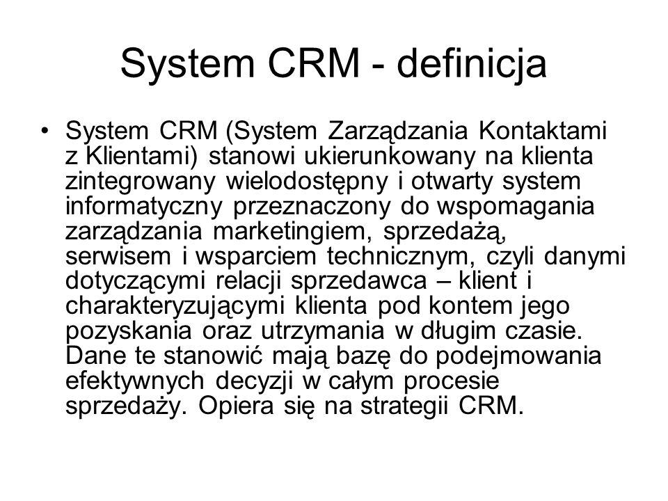 System CRM - definicja