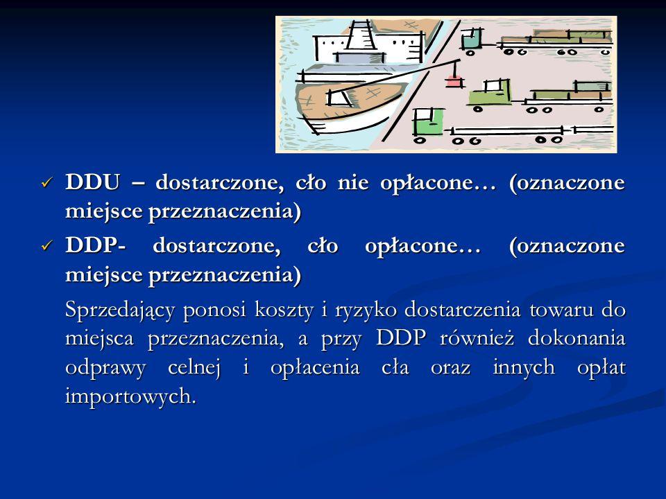 DDU – dostarczone, cło nie opłacone… (oznaczone miejsce przeznaczenia)