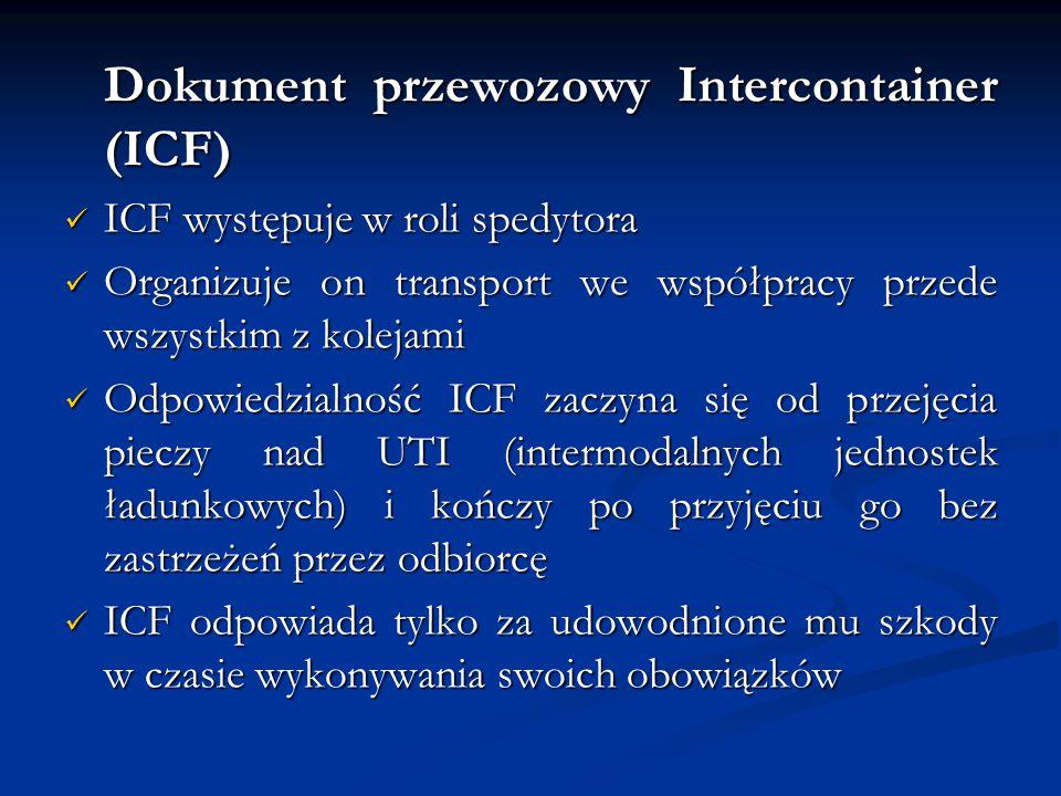 Dokument przewozowy Intercontainer (ICF)