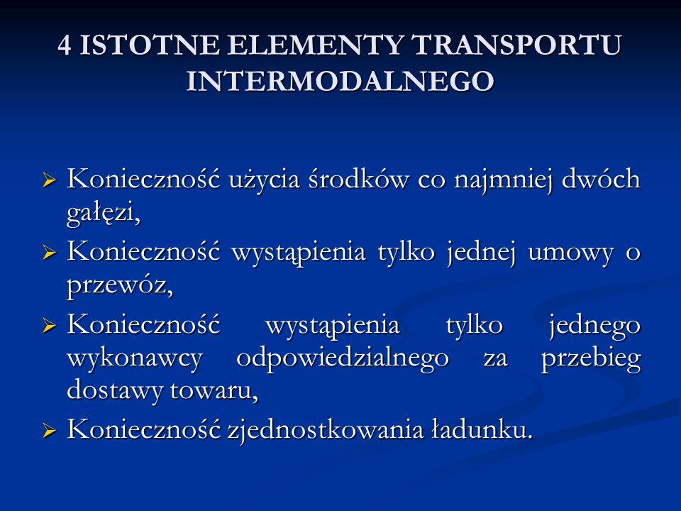 4 ISTOTNE ELEMENTY TRANSPORTU INTERMODALNEGO