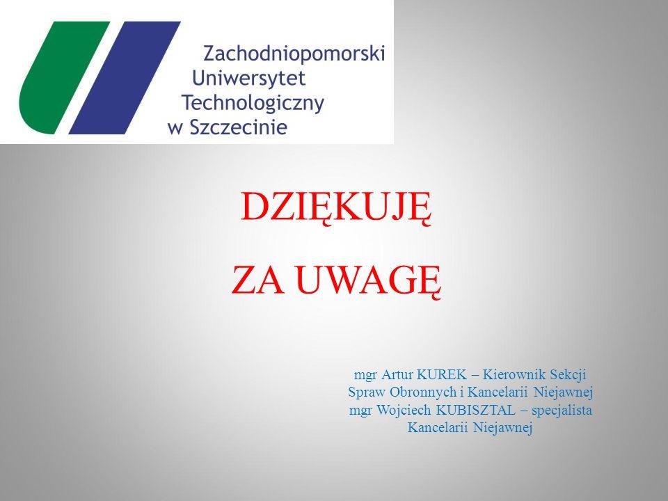 mgr Wojciech KUBISZTAL – specjalista Kancelarii Niejawnej