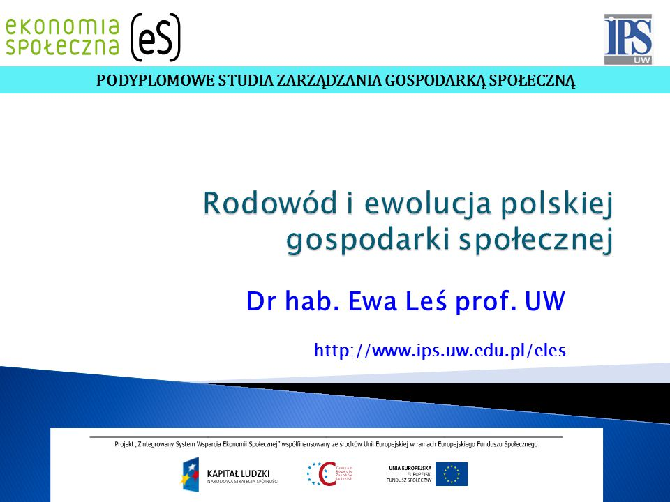 Rodowód i ewolucja polskiej gospodarki społecznej