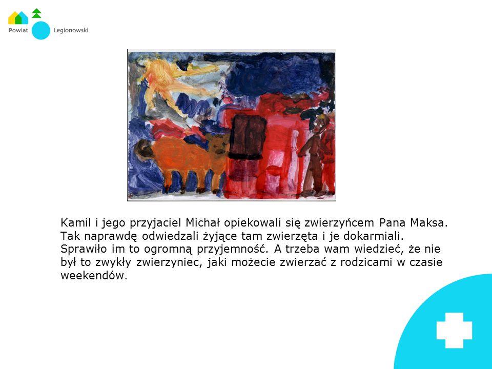 Kamil i jego przyjaciel Michał opiekowali się zwierzyńcem Pana Maksa