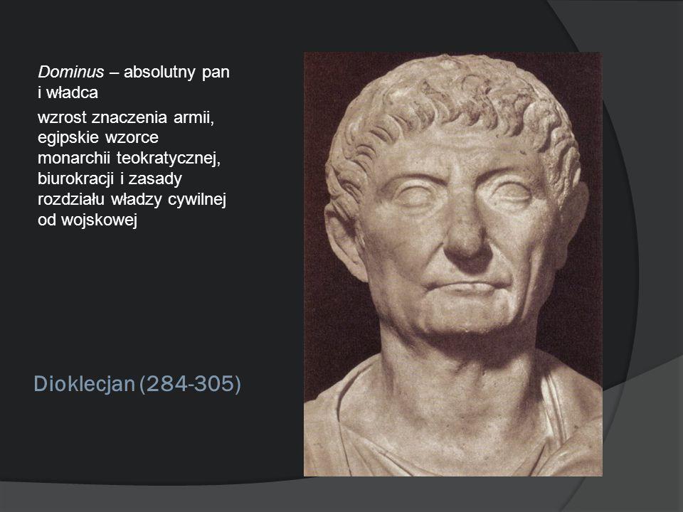 Dioklecjan (284-305) Dominus – absolutny pan i władca