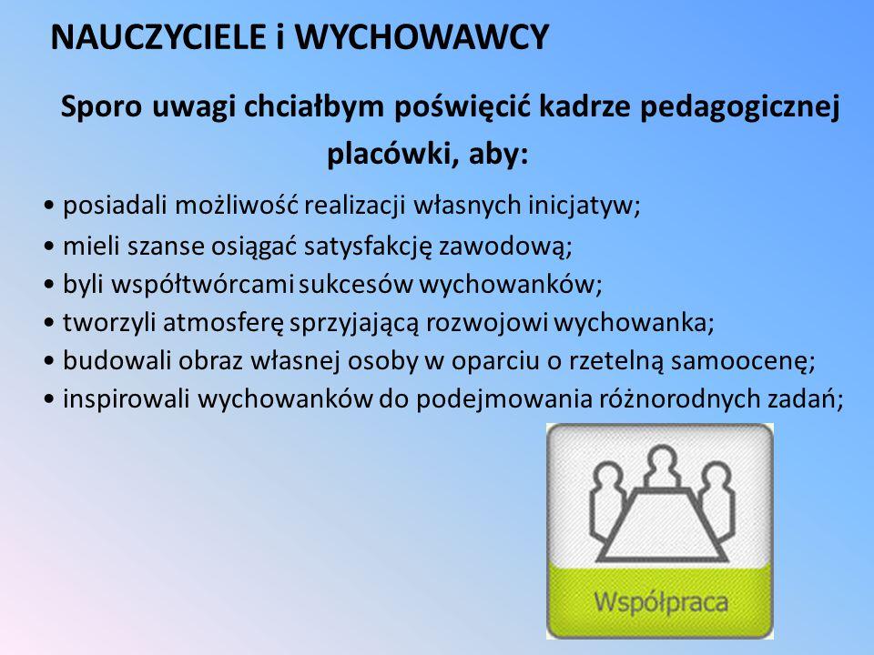 NAUCZYCIELE i WYCHOWAWCY