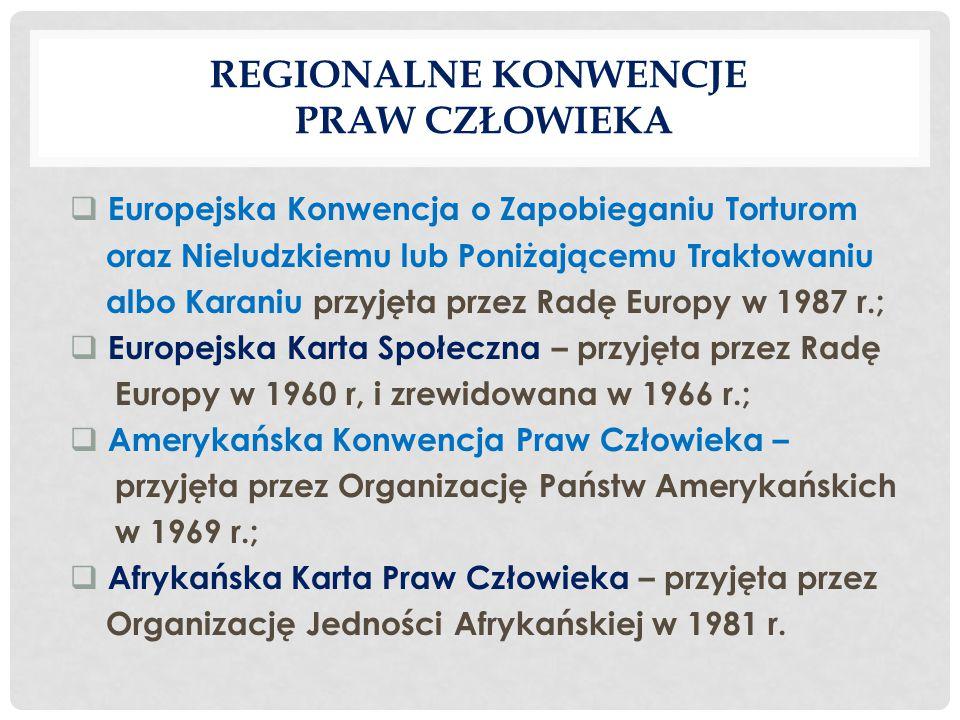 Regionalne konwencje praw człowieka