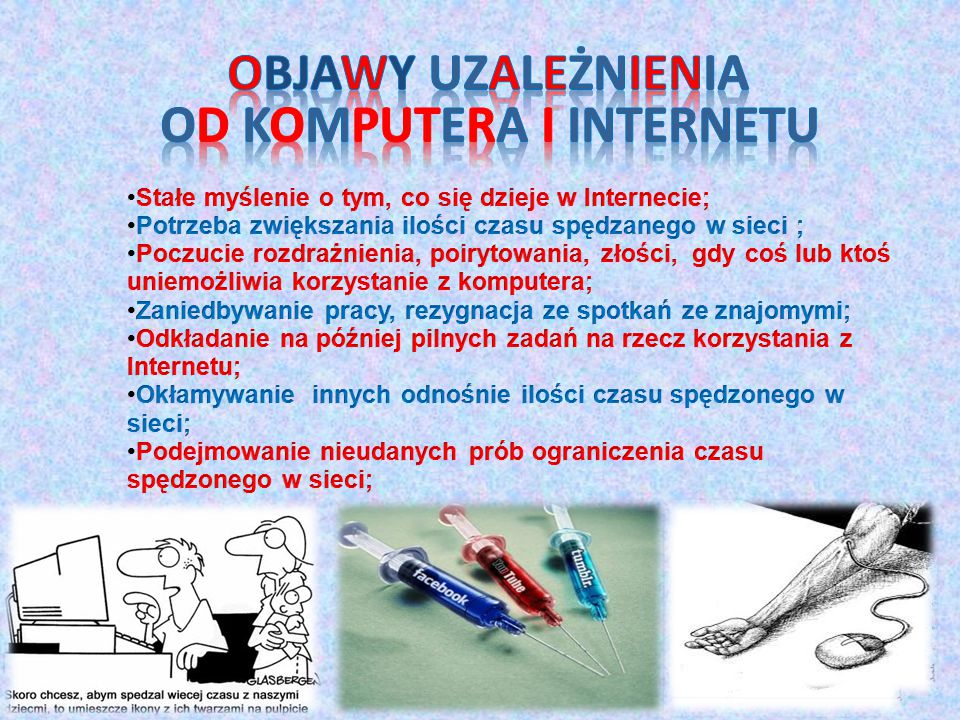 Objawy Uzależnienia od komputera i Internetu