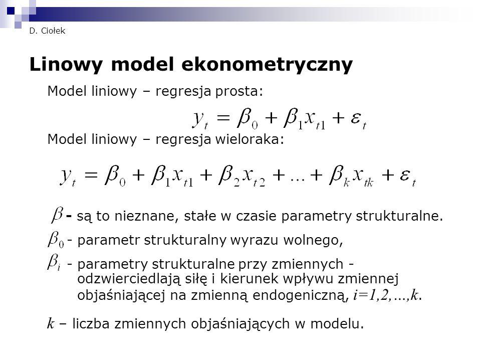 Linowy model ekonometryczny