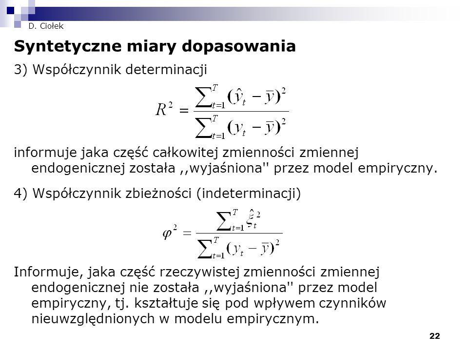 Syntetyczne miary dopasowania