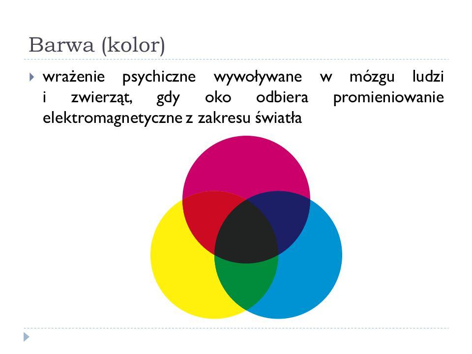 Barwa (kolor) wrażenie psychiczne wywoływane w mózgu ludzi i zwierząt, gdy oko odbiera promieniowanie elektromagnetyczne z zakresu światła.