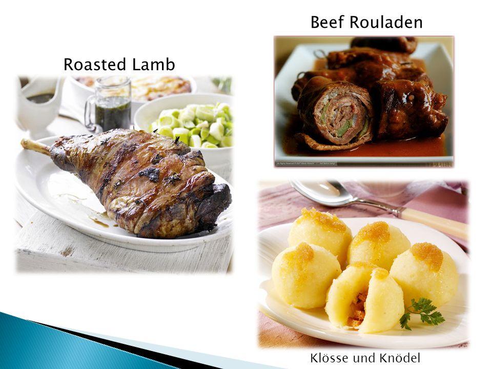 Beef Rouladen Roasted Lamb Klösse und Knödel