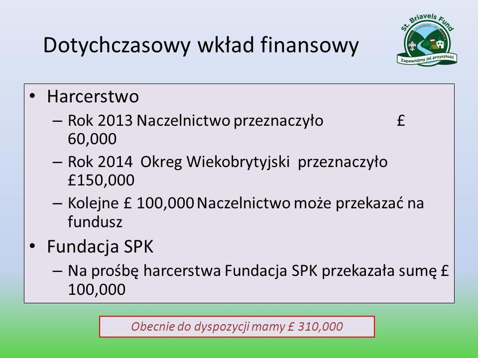 Dotychczasowy wkład finansowy