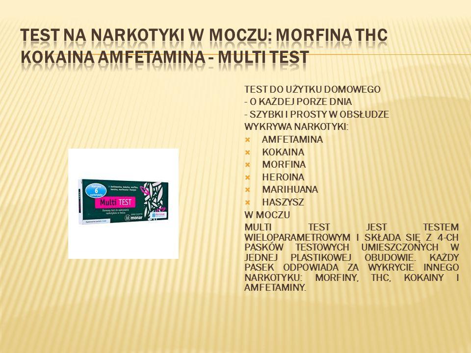 Test na narkotyki w moczu: morfina THC kokaina amfetamina - MULTI Test
