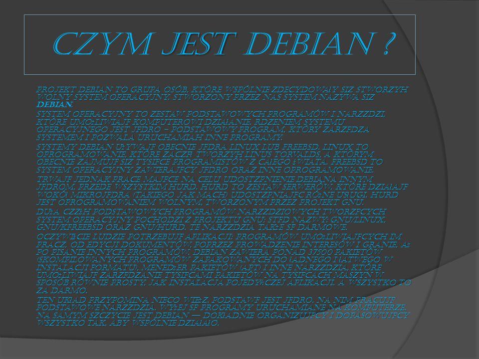 CZYM jest Debian