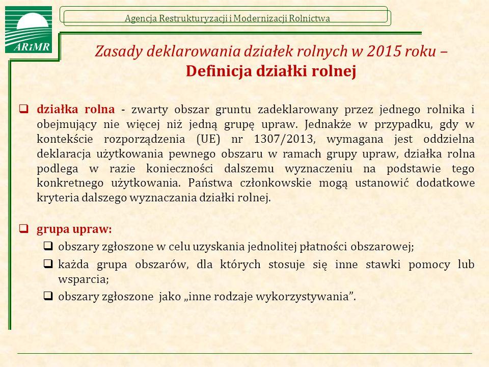 Zasady deklarowania działek rolnych w 2015 roku – Definicja działki rolnej