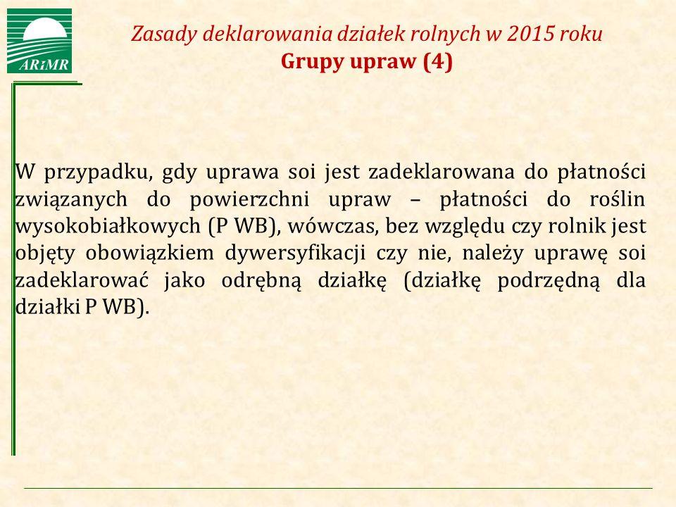 Zasady deklarowania działek rolnych w 2015 roku Grupy upraw (4)