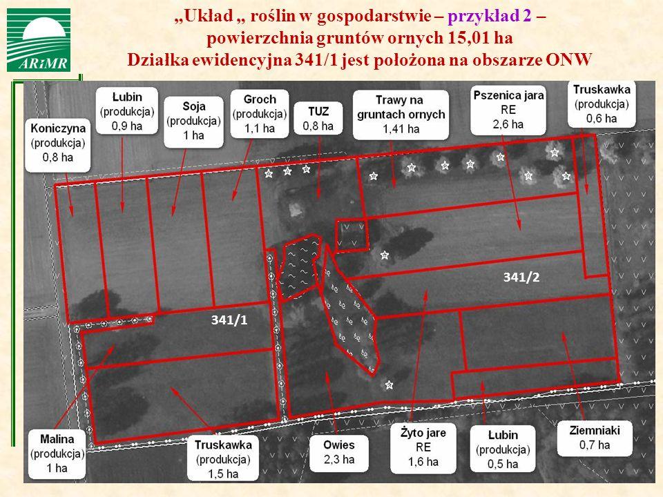 Działka ewidencyjna 341/1 jest położona na obszarze ONW