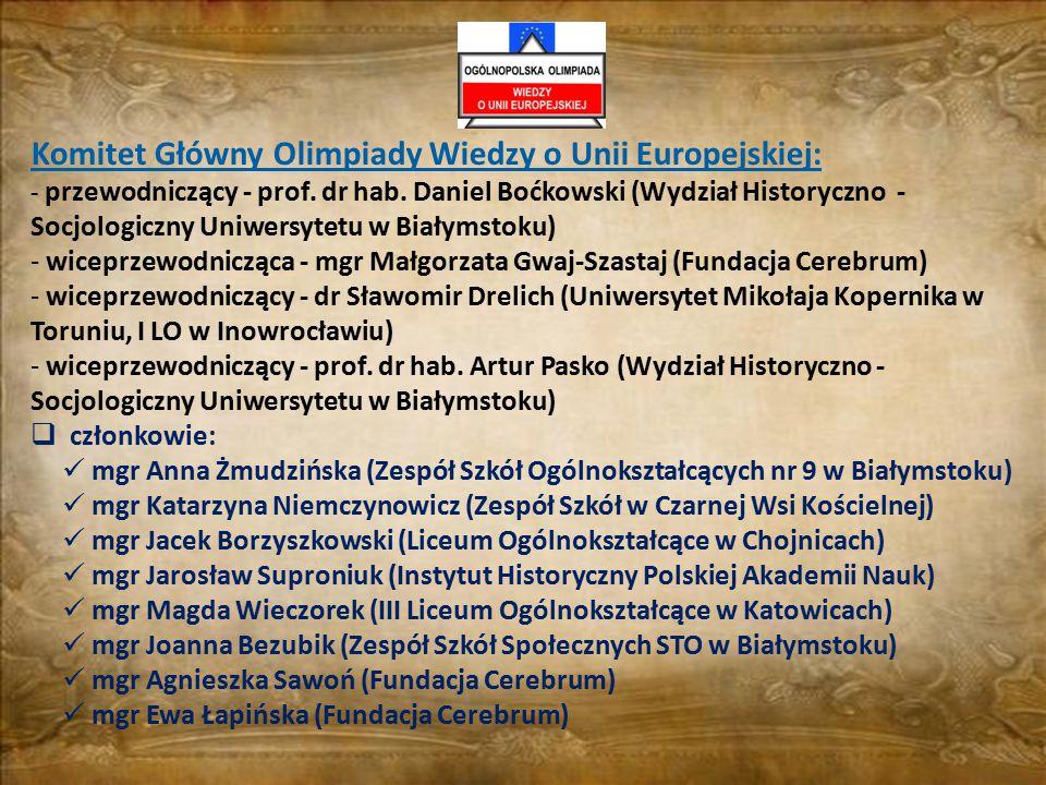 Komitet Główny Olimpiady Wiedzy o Unii Europejskiej: