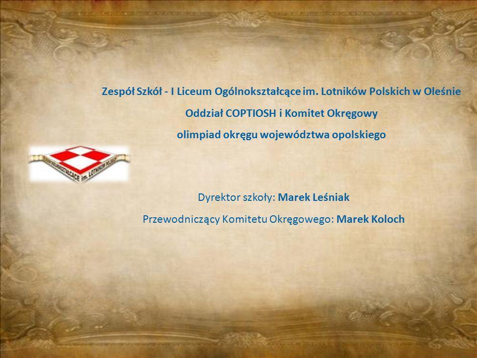 olimpiad okręgu województwa opolskiego