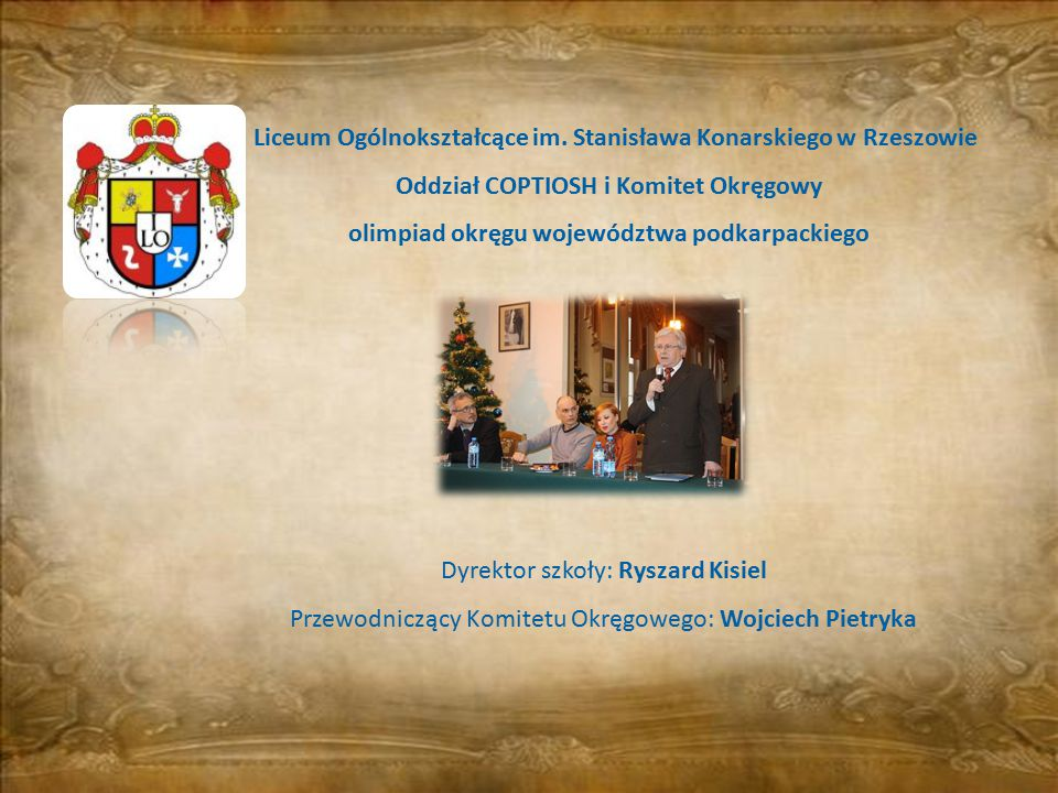 olimpiad okręgu województwa podkarpackiego