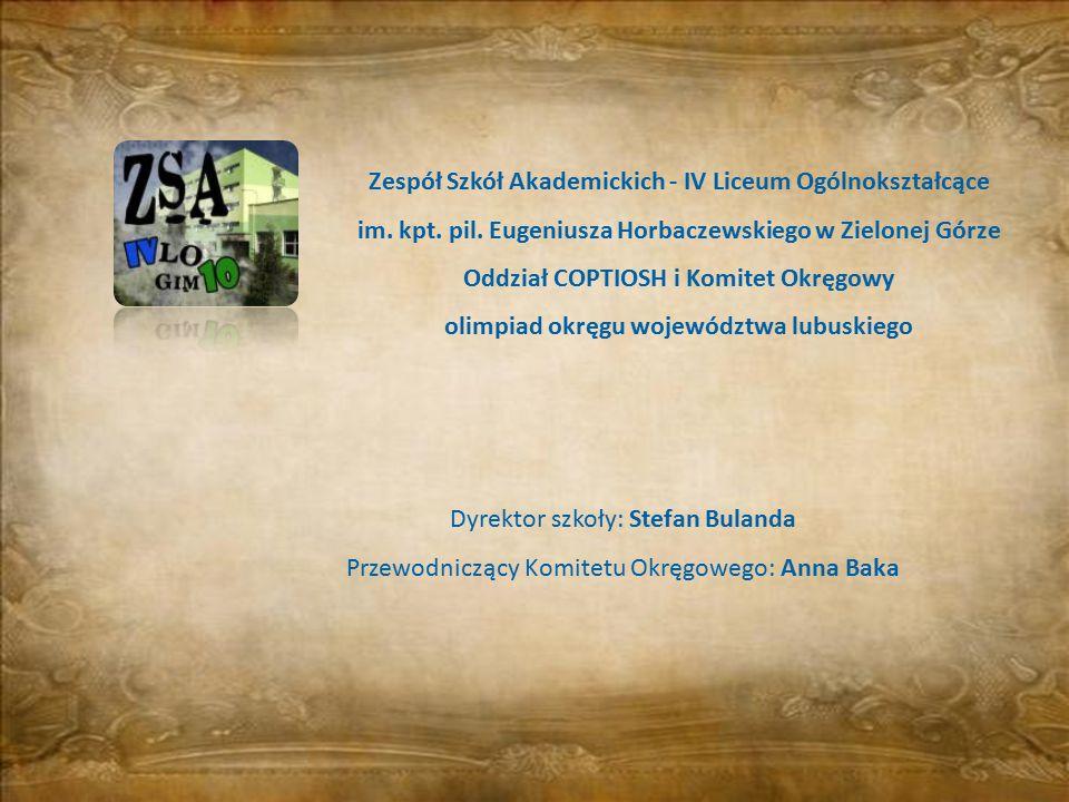 olimpiad okręgu województwa lubuskiego