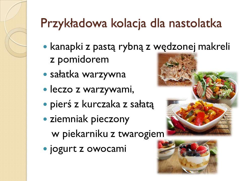 Przykładowa kolacja dla nastolatka
