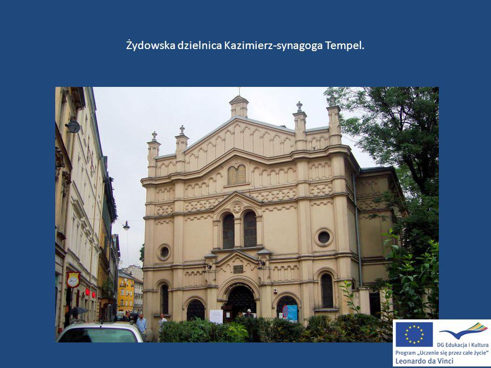 Żydowska dzielnica Kazimierz-synagoga Tempel.