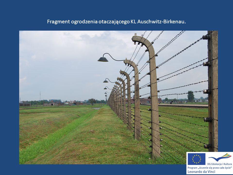Fragment ogrodzenia otaczającego KL Auschwitz-Birkenau.